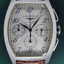 Longines Evidenza Automatic Chronograph Date Arabic Dial Fold...