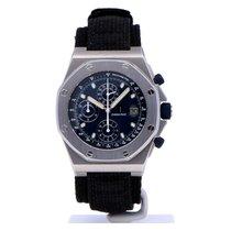 Audemars Piguet Royal Oak Offshore Chronograph Staal 42mm Blauw Geen cijfers Nederland, Amsterdam