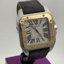 Cartier Santos 100 Acero y oro 52mm Blanco Romanos