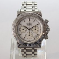 Zenith Steel Automatic White No numerals 40mm pre-owned El Primero Chronograph