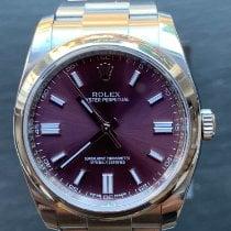 Rolex Oyster Perpetual 36 gebraucht 36mm Violett Stahl