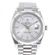 Rolex Day-Date 40 White gold 40mm Silver United States of America, Georgia, Atlanta