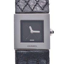 Chanel Steel Quartz Black 19mm pre-owned