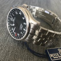 Revue Thommen Steel 41mm Automatic Revue Thommen Swiss Made Airspeed Automatik Uhr 16050.2137 new