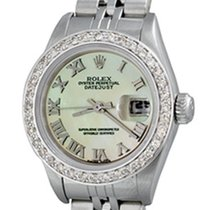 Rolex Lady-Datejust Steel 25mm Mother of pearl Roman numerals