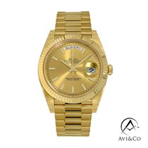 Rolex Yellow gold Automatic Champagne No numerals 40mm new Day-Date 40