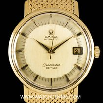 Omega 18k Yellow Gold Champagne Dial Seamaster  De Ville 1665020