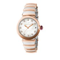 Bulgari Lucea Gold/Steel 33mm Mother of pearl No numerals