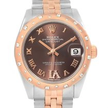 Rolex Datejust 31 Midsize Steel Everose Gold Diamond Watch 178341