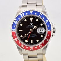 Rolex Gmt-master II Pepsi Stainless Steel 16710t No Holes...