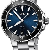 Oris Steel 36.5mm Automatic Aquis Date new United States of America, New York, Airmont