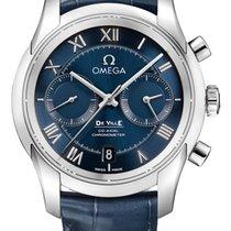 Omega De Ville Co-Axial Acero 42mm Azul Romanos