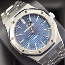 Audemars Piguet Steel Automatic Blue No numerals 41mm pre-owned Royal Oak Selfwinding