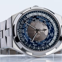 江诗丹顿 Overseas World Time 鋼 43.5mm 藍色
