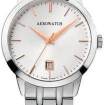 Aerowatch Les Grandes Classiques Steel 40,00mm White No numerals