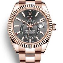 Rolex Sky-Dweller Růžové zlato 42mm Černá Bez čísel