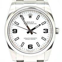 Rolex Oyster Perpetual 34 Acier 34mm Blanc