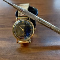 부로바 옐로우골드 33.5mm 수동감기 L6 중고시계