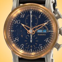 Cuervo y Sobrinos Torpedo new Automatic Chronograph Watch with original box 3051.5N-2