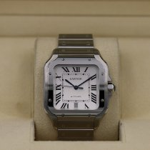Cartier Stal Automatyczny Biały Rzymskie 39.8mm używany Santos (submodel)