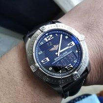 Breitling Aerospace Avantage gebraucht 42mm Schwarz Schlagwerk Datum Wochentagsanzeige Monatsanzeige Wecker GMT/Zweite Zeitzone Rindsleder