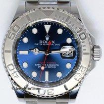 Rolex Yacht-Master 40 Steel & Platinum Blue Dial Mens...