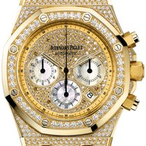 Audemars Piguet Yellow gold Automatic Gold No numerals 39mm pre-owned Royal Oak Chronograph