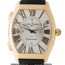Ulysse Nardin Michelangelo Rose gold 38mm Silver Roman numerals United States of America, New York, New York