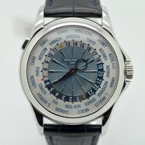 Patek Philippe World Time Platinum Mens Watch 5130p-001 Box...