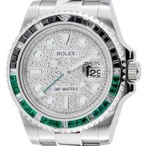 Rolex GMT-Master II Steel Black/Green Bezel Pavé Dial