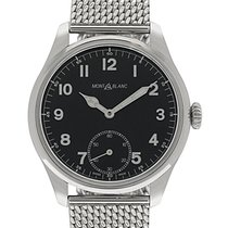 Montblanc 1858 Manual Wind Stainless Steel Men's Watch 114958