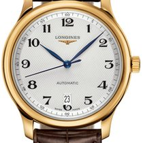 Longines Yellow gold Automatic Silver Arabic numerals 38.5mm new Master Collection