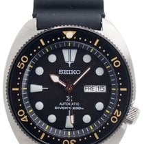 Seiko Steel 44mm Black No numerals