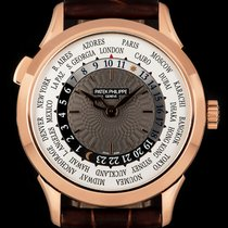 Patek Philippe World Time Rose gold 38.5mm Grey Arabic numerals United Kingdom, London