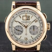 A. Lange & Söhne Datograph Rose gold 39mm Silver Roman numerals United States of America, Massachusetts, Boston
