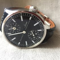 Sinn 6100 Steel 44mm Black No numerals