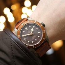 튜더 블랙 베이 브론즈 중고시계 43mm 갈색 가죽