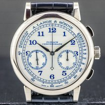 A. Lange & Söhne 1815 White gold 39.5mm Silver Arabic numerals United States of America, Massachusetts, Boston