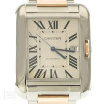 Cartier Tank Anglaise Staal 36mm Zilver