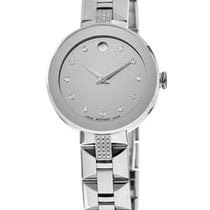 Movado Sapphire Staal Zilver