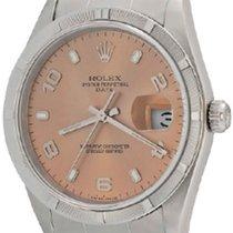 Rolex Oyster Perpetual Date Aço 34mm Árabes