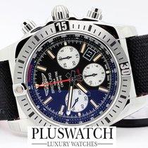 百年靈 (Breitling) Chronomat 44 Airborne black dial Military Strap