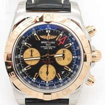 Breitling Cb0420 Chronomat 44 Gmt Steel & 18k Rose Gold  W/...