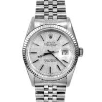 "Rolex Men's Datejust Steel Silver Index ""Linen"" Fluted"