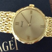 Piaget 18 carat yellow gold quartz watch on bracelet