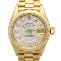 Rolex Datejust Yellow Gold Pearl Diamond Dial 18 kt (26 mm)