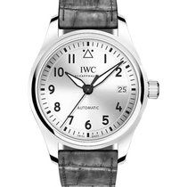 IWC IW3240-07 Pilots Date Mens 36mm Automatic in Steel - On...