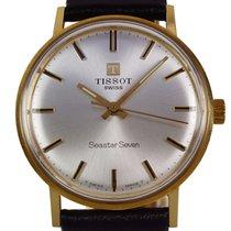 Tissot Seastar Seven Gold Watch 18K 1975 + box