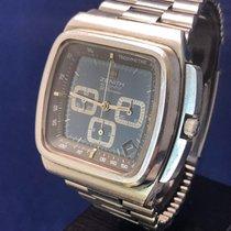 Zenith El Primero Tv Screen blue black mid 70´ original bracelet