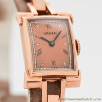 Gruen Rose gold Manual winding Roman numerals 13mm pre-owned